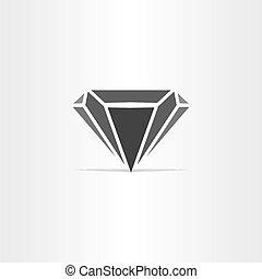 black diamond stylized icon logo design