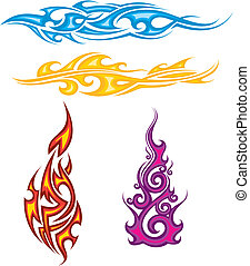totem - flame totem pattern design.