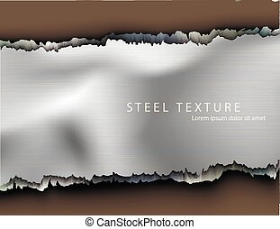 Template for the text from the metall background with...