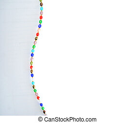 Colorful crystal necklace background - This is a colorful...