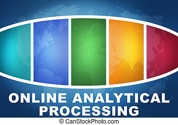 Online Analytical Processing text illustration concept on...