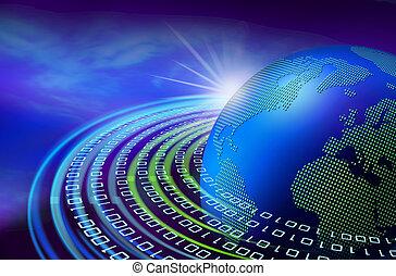 Digital dawn on earth