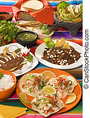 delicioso, mexicano, tipical, alimento