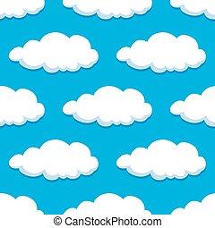 Summer cloudy sky seamless pattern