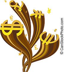 monetary icons - the illustration of monetary icons
