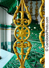 Staircase at India Muslim Mosque - Indian Muslim Mosque in...