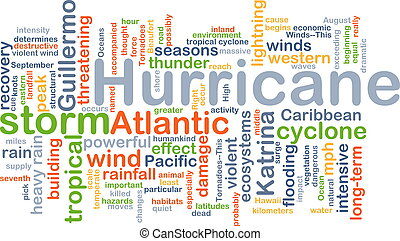 Hurricane background concept - Background concept wordcloud...