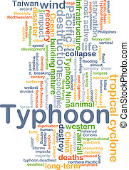 Typhoon background concept - Background concept wordcloud...
