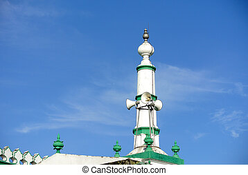 Architectural detail - Indian Muslim Mosque in Ipoh, Perak,...