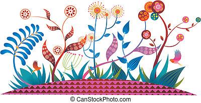 plantas,  Fairytale, flores
