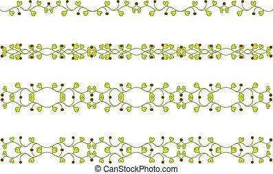 floral branch border - Set of floral branch border
