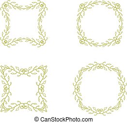 floral branch frames - Set of floral branch frames