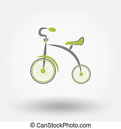 Tricycle flat icon.