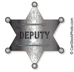 Deputy Badge - A US wild west sheriff badge with the text...