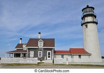 Highland Light Cape Cod Light on Cape Cod in Massachusetts