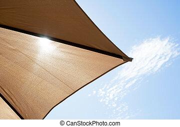 sole, parasole, lucente, sebbene