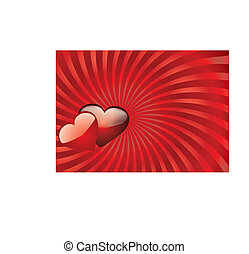 Valentine background 11 - Valentine card with hearts on top,...