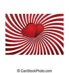 Valentine background 7 - Valentine card with hearts on top,...