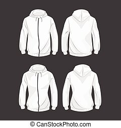 Hoody for men and women front and back - Set of hoodies for...