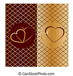 Valentine background 6 - Valentine card with hearts on top,...