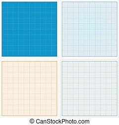 Graph Paper - Square graph papers set, vector eps10...