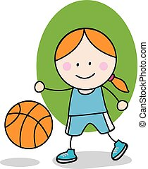 Basket ball girl