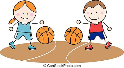 Basket ball kids