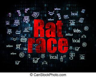 政治, 老鼠, 比賽, 背景, 數字,  concept: