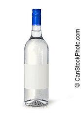 Blank spirits bottle - Full spirits bottle with blank label