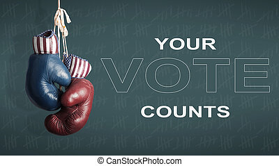 presidential Election Day 2016 - Democrats and Republicans...