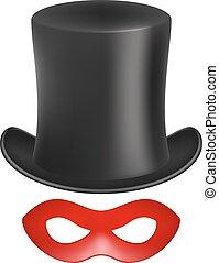 Gentleman hat and eye mask
