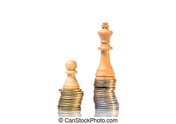 chesspiece - Symbol of the Income differences between rich...