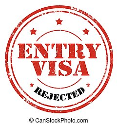 Entry Visa - Grunge rubber stamp with text Entry...