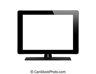 Modern TV screen isolated on white background