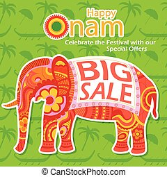 Happy Onam Big Sale - vector illustration of Happy Onam big...
