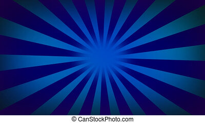 Blue sunburst background - Backgrounds series