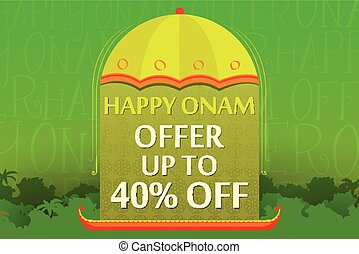 Happy Onam Offer - vector illustration of Happy Onam offer