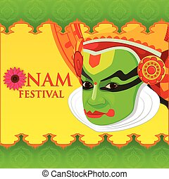 Happy Onam Festival - vector illustration of Happy Onam...