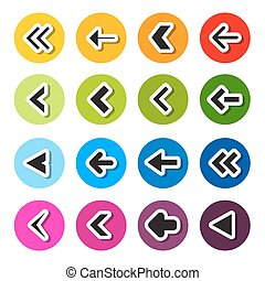 Colorful Circle Arrows Set