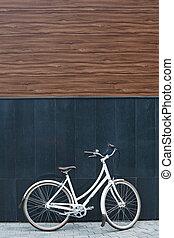 壁, 自転車, に対して