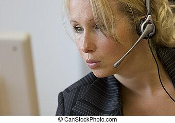 secretary at a call center
