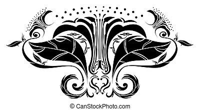 flower pattern silhouette