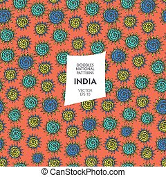 Seamless pattern of tourist attractions of India - Seamless...