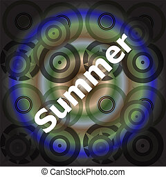 Summer word on abstract grunge background