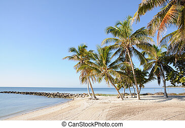 Key West Beach in Florida Keys, USA