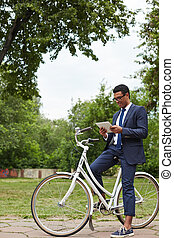 Networking on bicycle