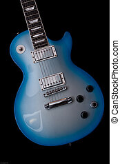 Blue Robot Gibson - Gibson Blue Burst Les Paul style guitar...