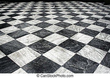 black et white marble floor - Black and white checquered...
