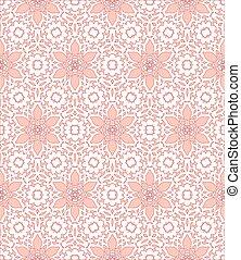 Lace pattern - White lace pattern on a pink background