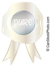 Pure Stamp - A white wax stamp with the legend pure